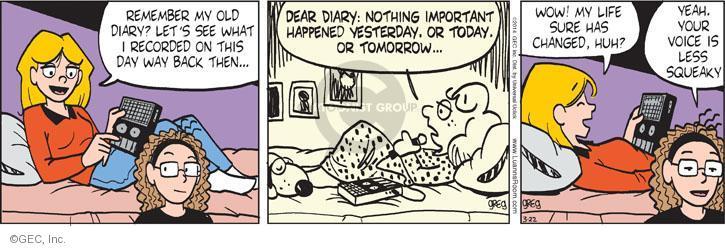 Comic Strip Greg Evans  Luann 2014-03-22 nostalgia
