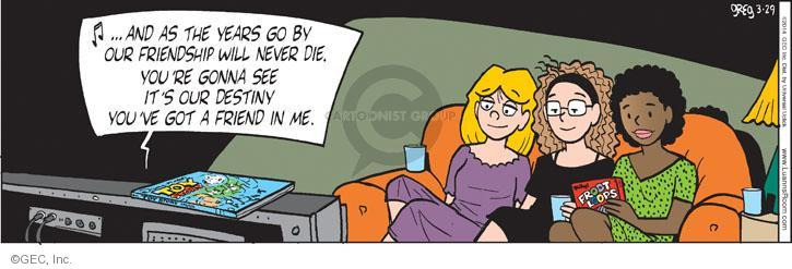 Comic Strip Greg Evans  Luann 2014-03-29 affection