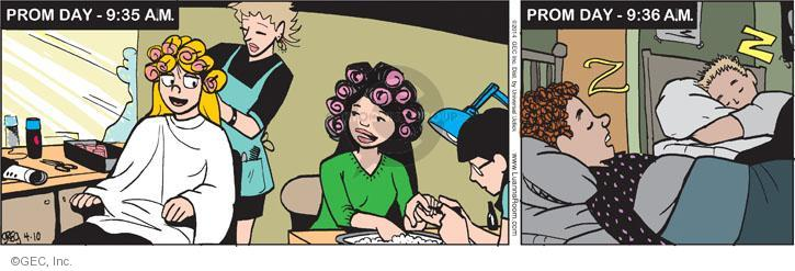 Comic Strip Greg Evans  Luann 2014-04-10 manicure