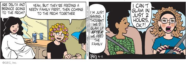 Comic Strip Greg Evans  Luann 2014-04-11 beauty