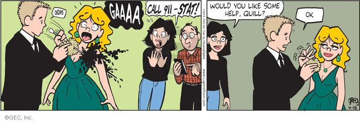 Comic Strip Greg Evans  Luann 2014-04-15 911