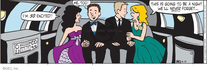 Comic Strip Greg Evans  Luann 2014-04-17 excitement