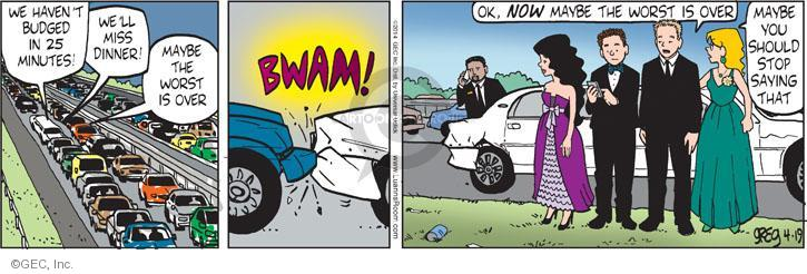 Comic Strip Greg Evans  Luann 2014-04-19 worst