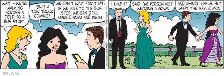 Comic Strip Greg Evans  Luann 2014-04-22 gown
