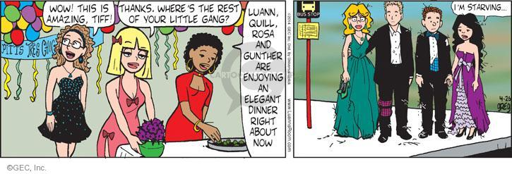 Comic Strip Greg Evans  Luann 2014-04-26 Gunther