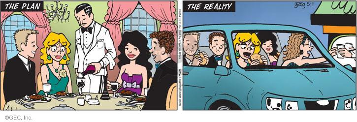 Comic Strip Greg Evans  Luann 2014-05-01 fast food