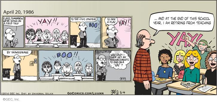 Comic Strip Greg Evans  Luann 2014-05-04 tomorrow
