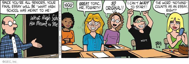 Comic Strip Greg Evans  Luann 2014-05-05 teacher