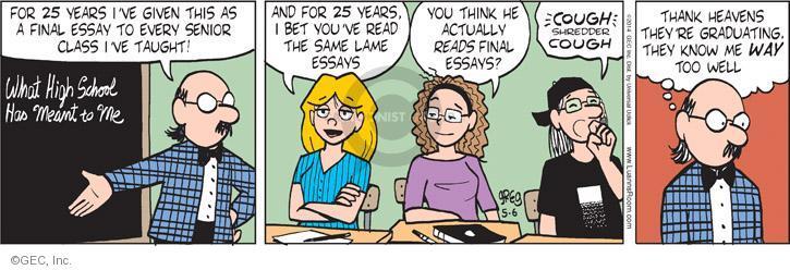 Comic Strip Greg Evans  Luann 2014-05-06 teacher