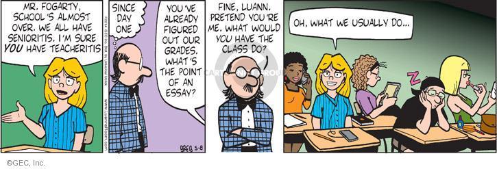 Comic Strip Greg Evans  Luann 2014-05-08 teacher