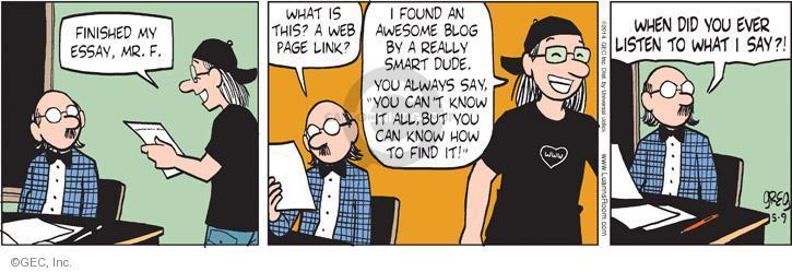 Comic Strip Greg Evans  Luann 2014-05-09 teacher