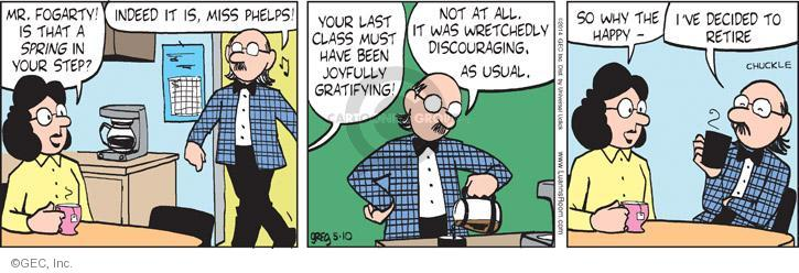 Comic Strip Greg Evans  Luann 2014-05-10 discourage