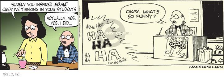 Comic Strip Greg Evans  Luann 2014-05-15 teacher