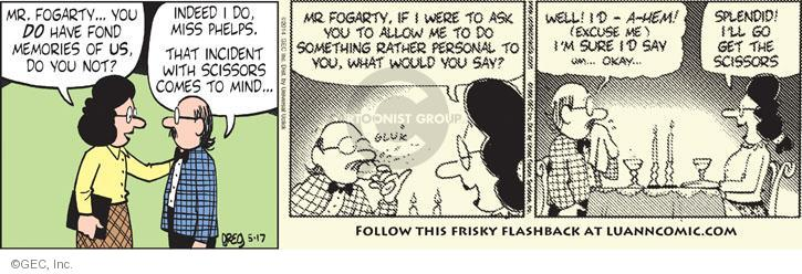 Comic Strip Greg Evans  Luann 2014-05-17 memory