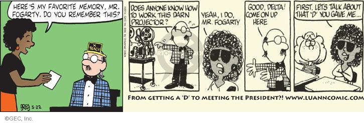 Comic Strip Greg Evans  Luann 2014-05-22 memory