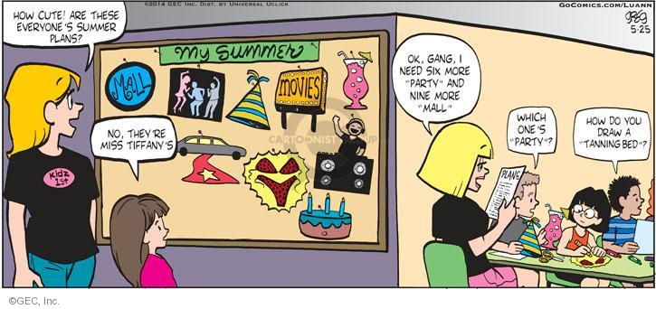 Comic Strip Greg Evans  Luann 2014-05-25 mall