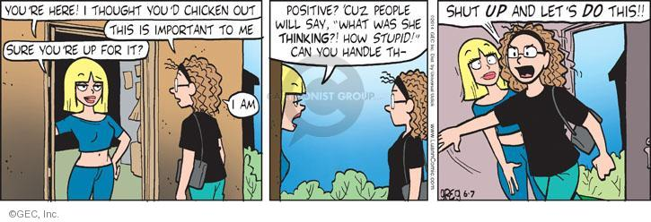 Comic Strip Greg Evans  Luann 2014-06-07 discourage