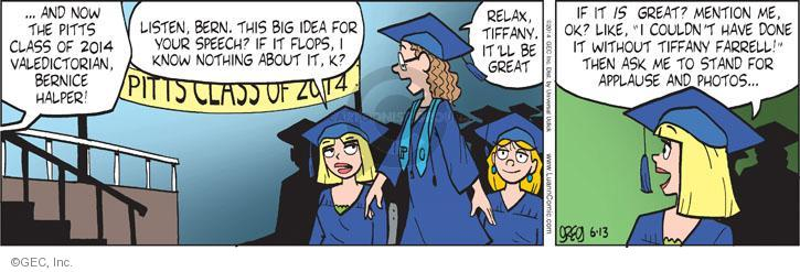 Comic Strip Greg Evans  Luann 2014-06-13 graduate