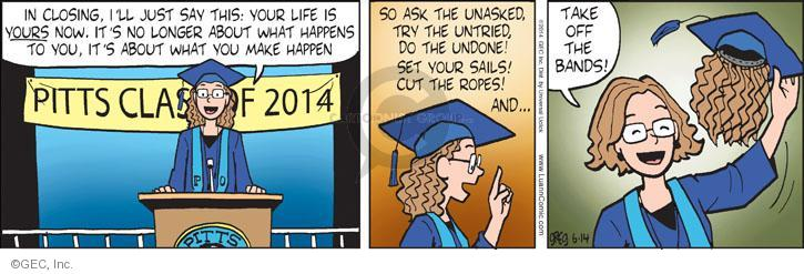 Comic Strip Greg Evans  Luann 2014-06-14 graduate