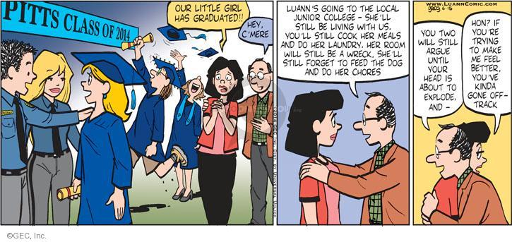 Comic Strip Greg Evans  Luann 2014-06-15 junior college