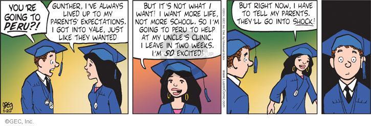 Comic Strip Greg Evans  Luann 2014-06-20 Gunther
