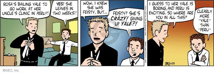 Comic Strip Greg Evans  Luann 2014-06-23 give up