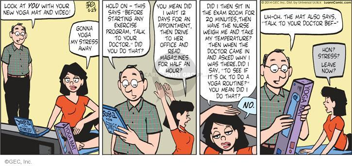 Comic Strip Greg Evans  Luann 2014-06-29 exam