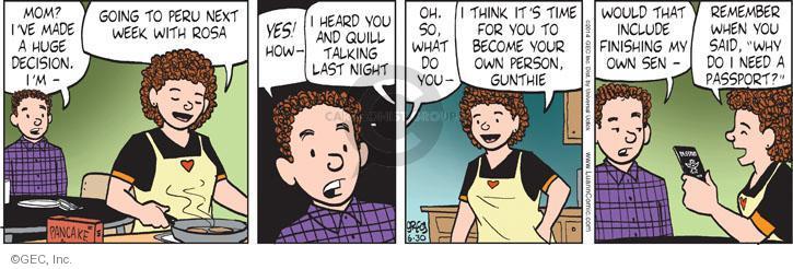 Comic Strip Greg Evans  Luann 2014-06-30 growing up