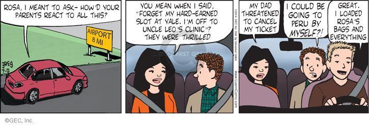 Comic Strip Greg Evans  Luann 2014-07-08 threaten
