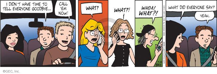 Comic Strip Greg Evans  Luann 2014-07-10 whoa