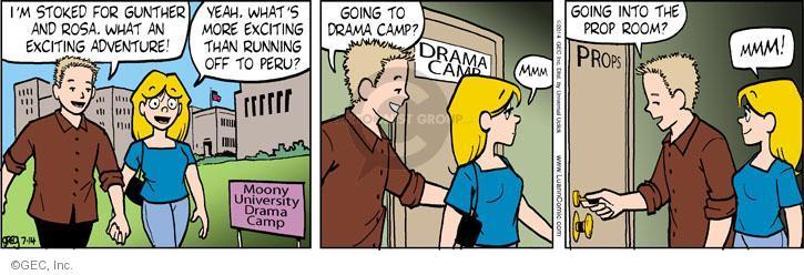 Comic Strip Greg Evans  Luann 2014-07-14 drama camp