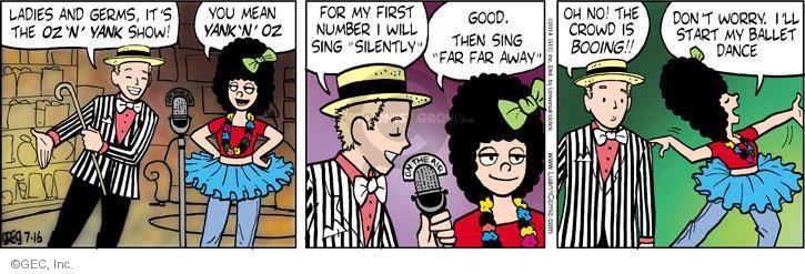 Comic Strip Greg Evans  Luann 2014-07-16 first lady