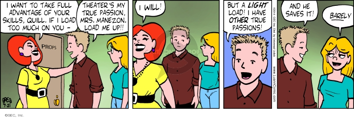 Comic Strip Greg Evans  Luann 2014-07-21 drama