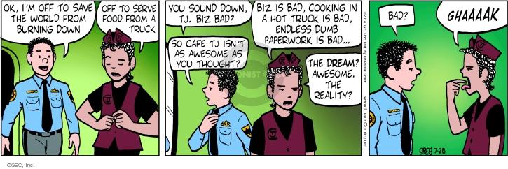Comic Strip Greg Evans  Luann 2014-07-28 reality