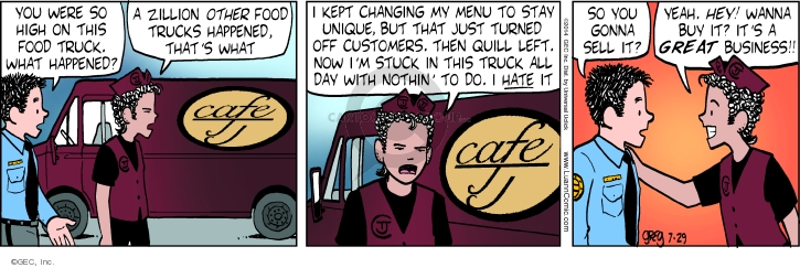 Cartoonist Greg Evans  Luann 2014-07-29 customer