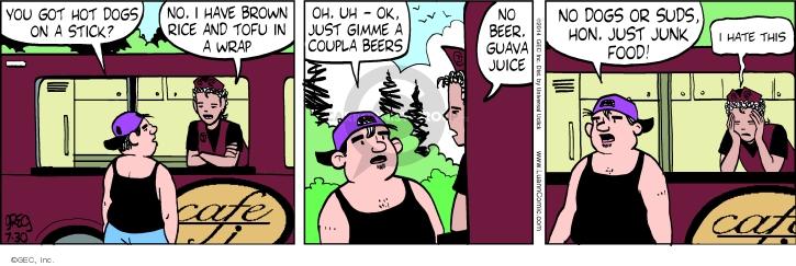 Comic Strip Greg Evans  Luann 2014-07-30 restaurant