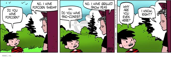 Comic Strip Greg Evans  Luann 2014-07-31 restaurant