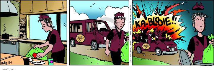Comic Strip Greg Evans  Luann 2014-08-01 food truck