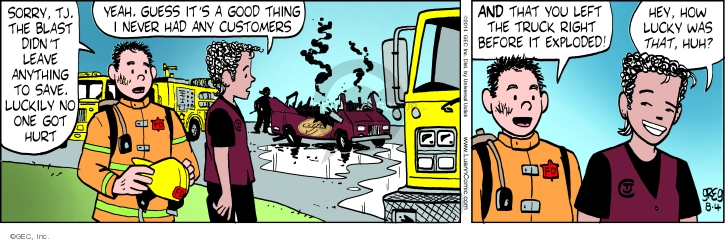 Cartoonist Greg Evans  Luann 2014-08-04 customer