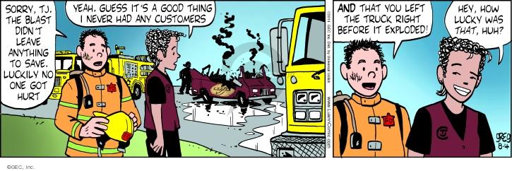 Comic Strip Greg Evans  Luann 2014-08-04 truck