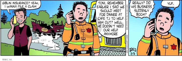 Comic Strip Greg Evans  Luann 2014-08-05 earlier