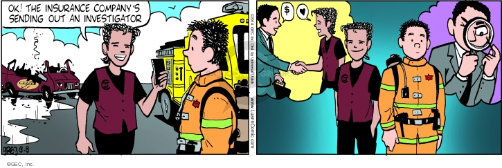 Comic Strip Greg Evans  Luann 2014-08-08 suspicion