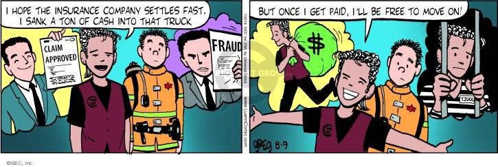 Comic Strip Greg Evans  Luann 2014-08-09 paid