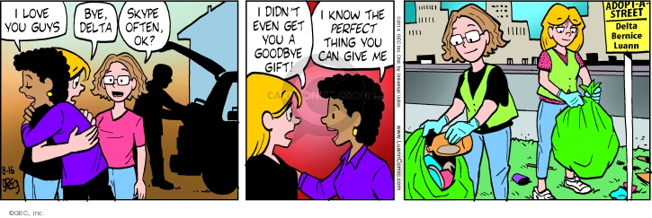 Comic Strip Greg Evans  Luann 2014-08-16 give up