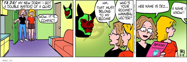 Comic Strip Greg Evans  Luann 2014-08-18 mask