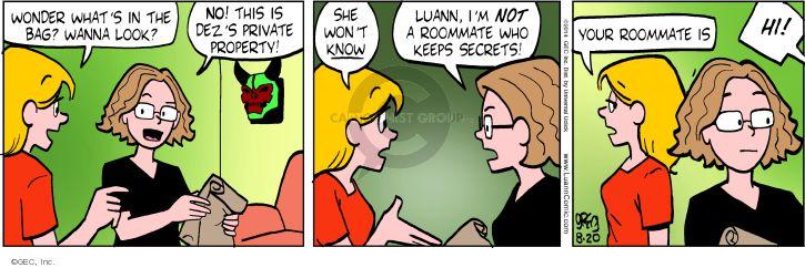 Comic Strip Greg Evans  Luann 2014-08-20 privacy