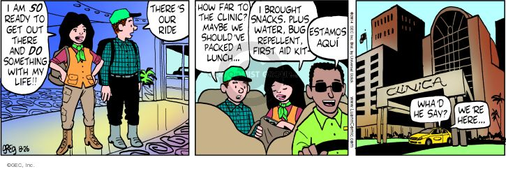 Comic Strip Greg Evans  Luann 2014-08-26 America