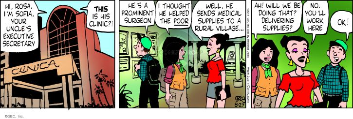 Comic Strip Greg Evans  Luann 2014-08-27 niece