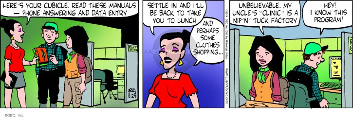 Cartoonist Greg Evans  Luann 2014-08-29 technology
