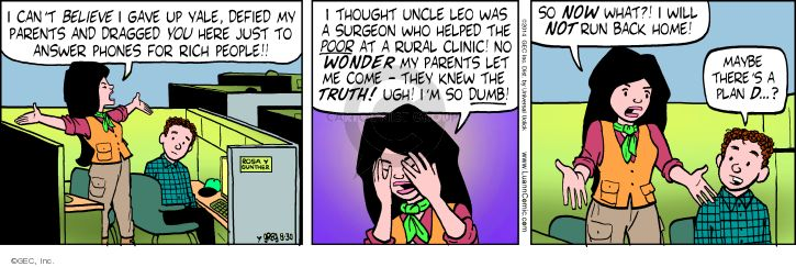 Comic Strip Greg Evans  Luann 2014-08-30 give up